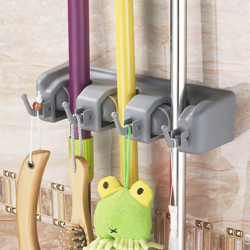Neuf support balai range porte accroche mural torchon outil mop cuisine au choix ebay - Accroche balai mural ...