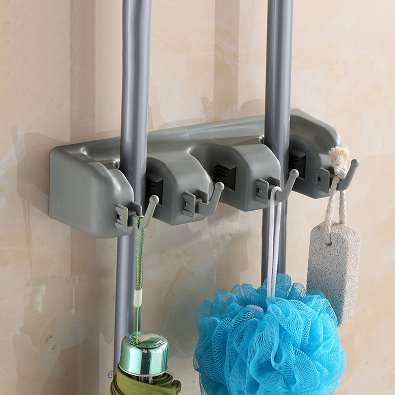 New Clean Mop Frame Wall Mount Broom Holder Cleaning Tools