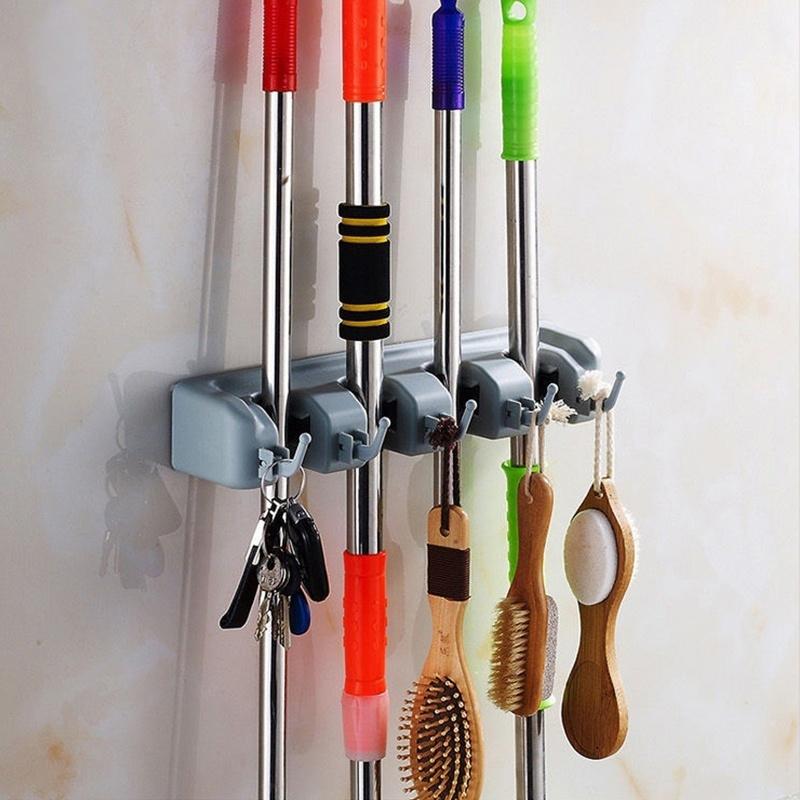 neuf support balai range porte accroche mural torchon outil mop cuisine au choix ebay. Black Bedroom Furniture Sets. Home Design Ideas