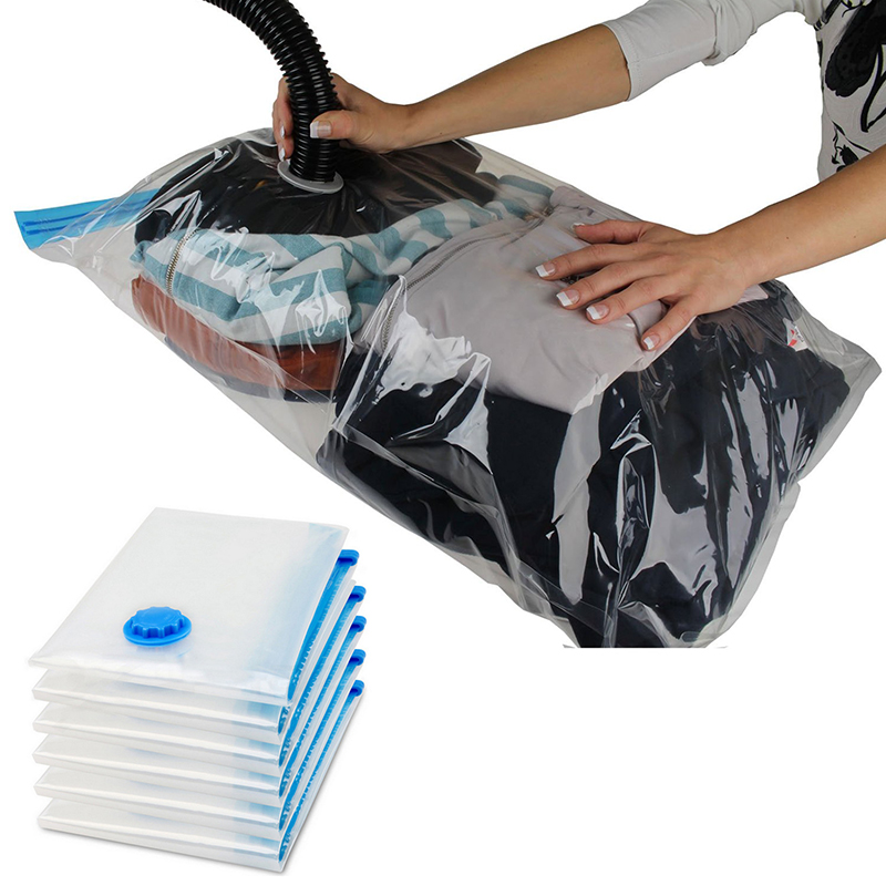large space save storage vacuum seal bags clothes bedding. Black Bedroom Furniture Sets. Home Design Ideas
