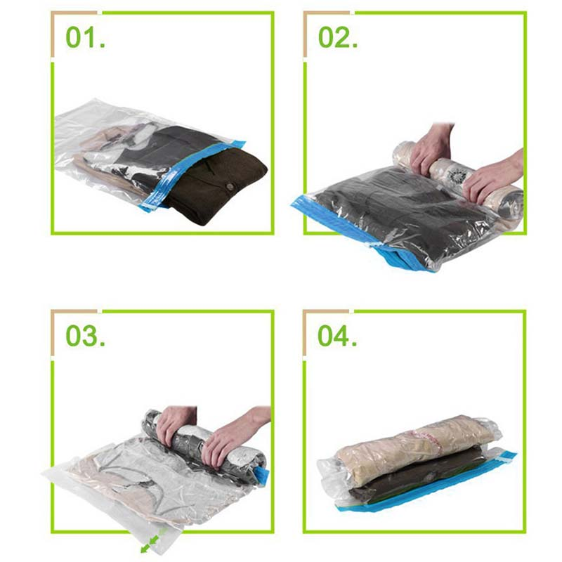 large space save storage vacuum seal bags clothes bedding organiser under bed ebay. Black Bedroom Furniture Sets. Home Design Ideas