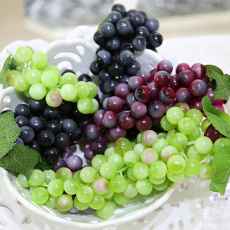 New lifelike artificial grapes plastic fake fruit food for Artificial grape vines decoration