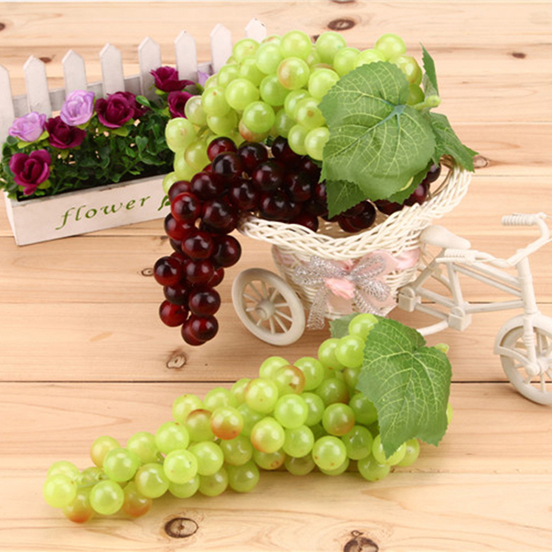New lifelike artificial grapes plastic fake fruit food for Artificial pears decoration