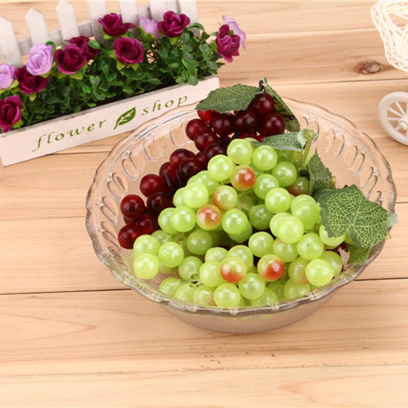 Grape Decor: NEW Lifelike Artificial Grapes Plastic Fake Fruit Food