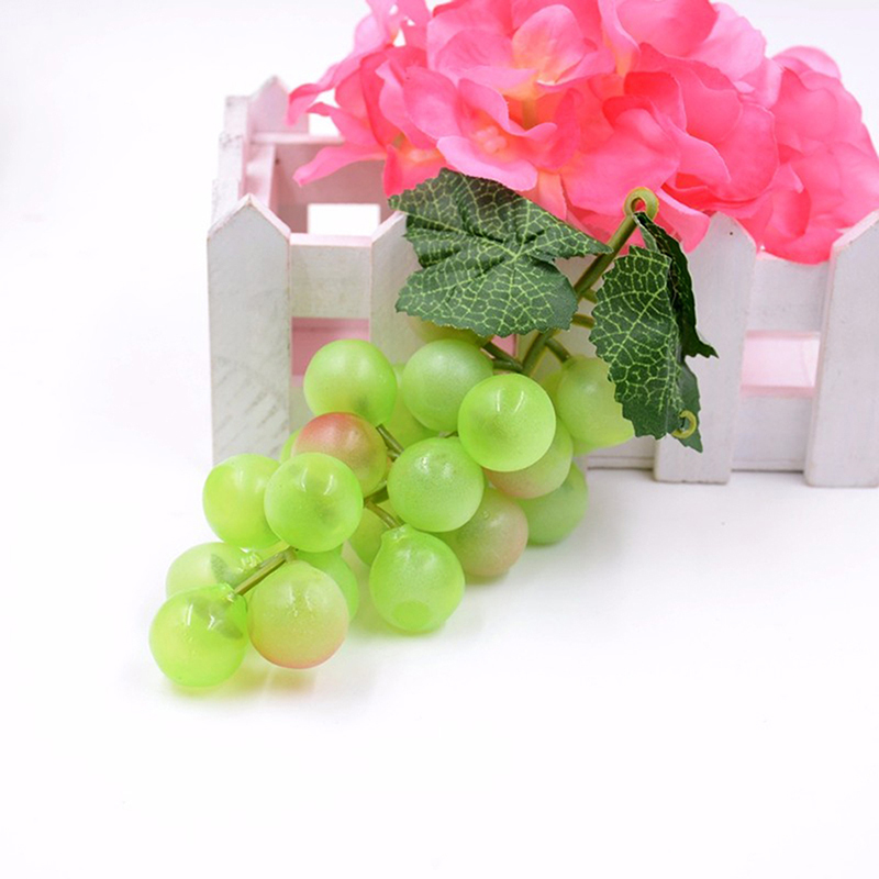 New lifelike artificial grapes plastic fake fruit food for Artificial fruit for decoration