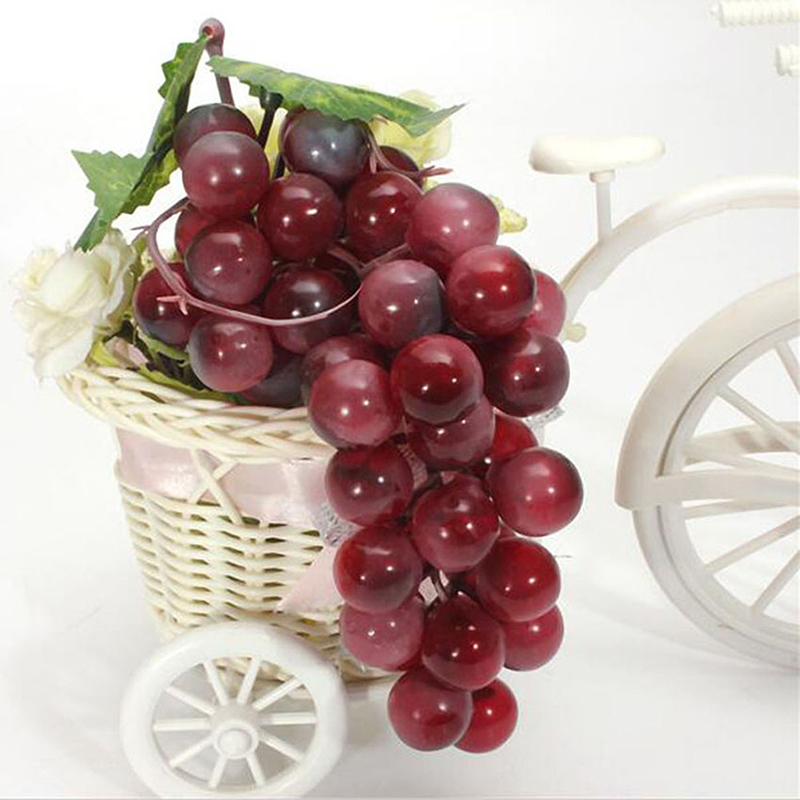 New lifelike artificial grapes plastic fake fruit food for Artificial cherries decoration