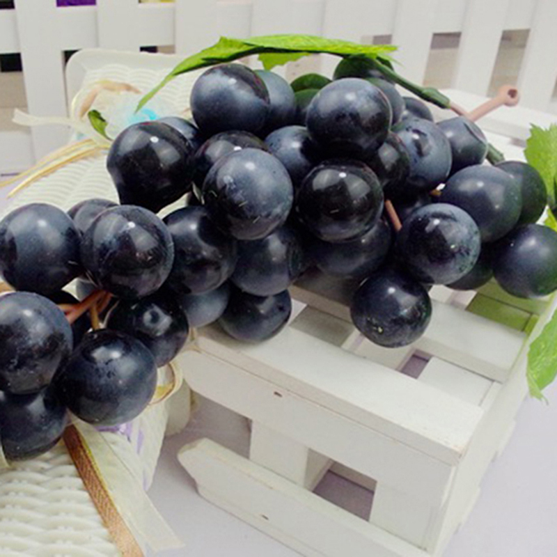 36 grapes lifelike artificial grapes plastic fake fruit for Artificial fruit for decoration