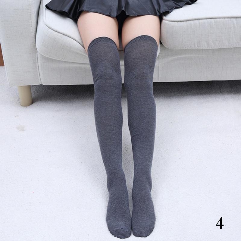 chaussettes coton jambi res gu tre genou longue bas collant lingerie haute femme ebay. Black Bedroom Furniture Sets. Home Design Ideas