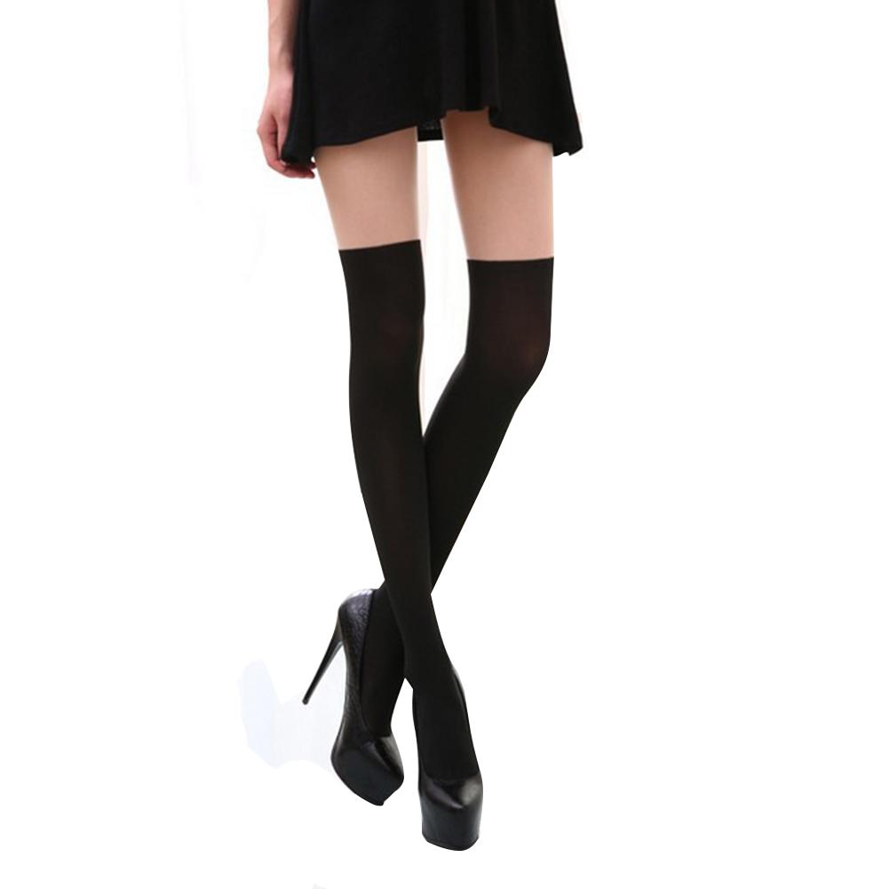 Schiere Strumpfhose und Knie