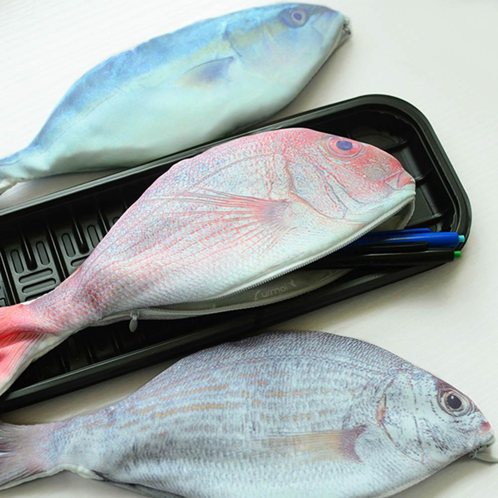 Silver carp fish like zipper pen make up pouch pencil for Baby carp for sale