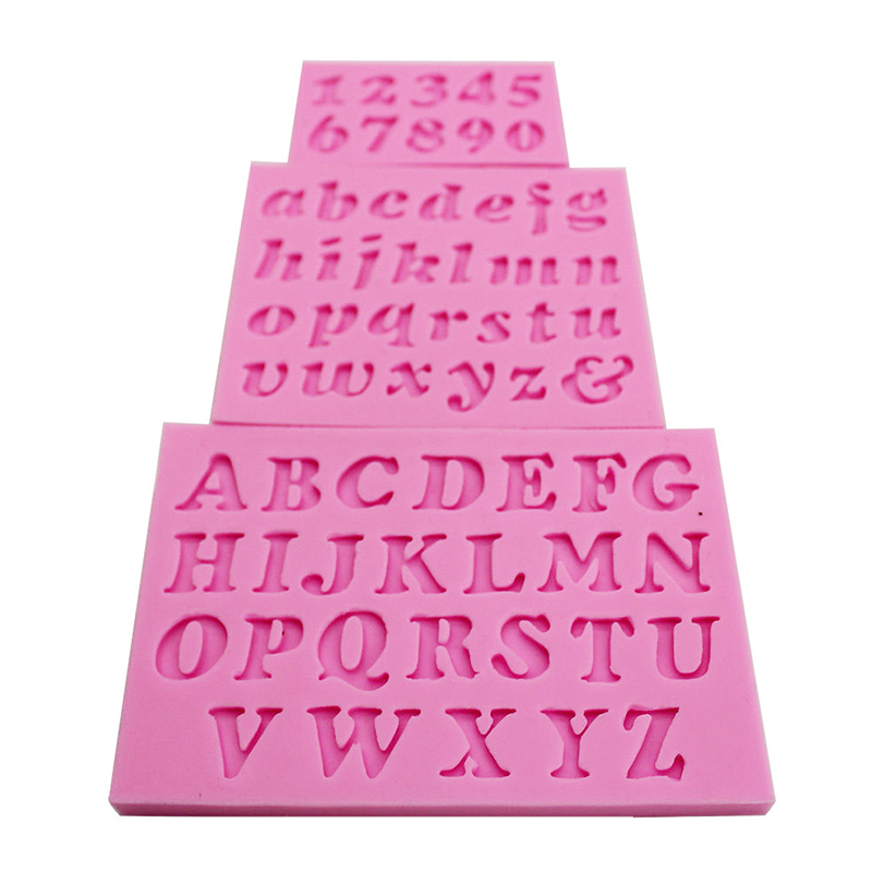 Cake Decorating Letter Cubes : 3x Alphabet Letter Number Silicone Fondant Mould Birthday ...