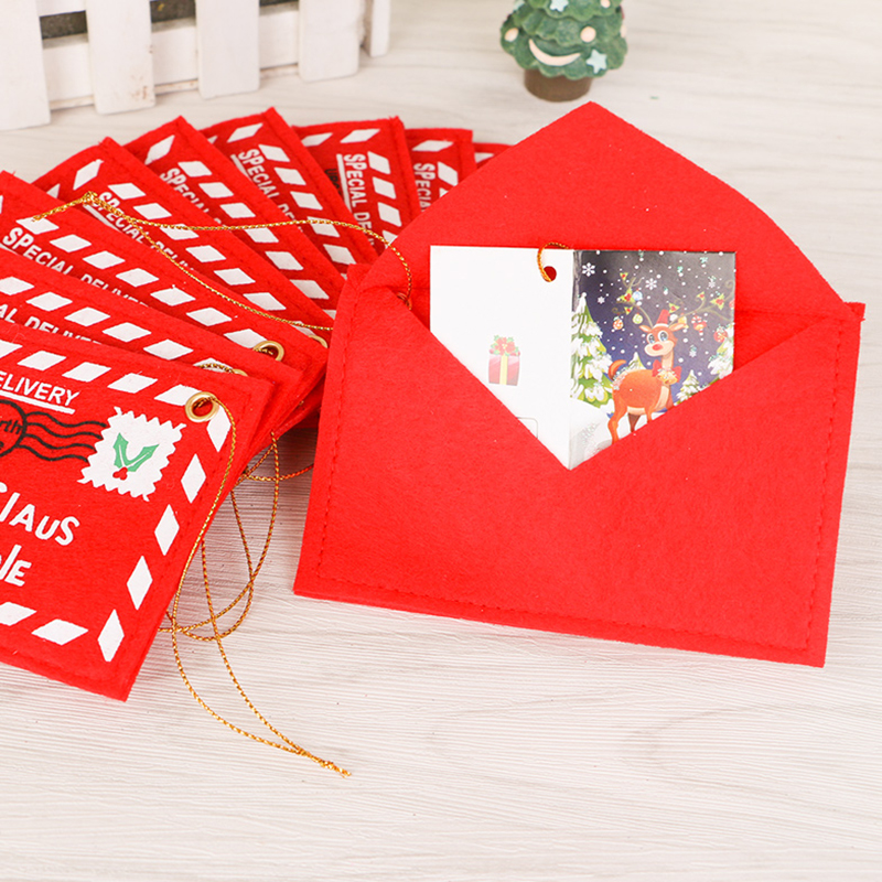 Santa claus letter mail envelope embroidery card christmas for Cheap letters from santa claus