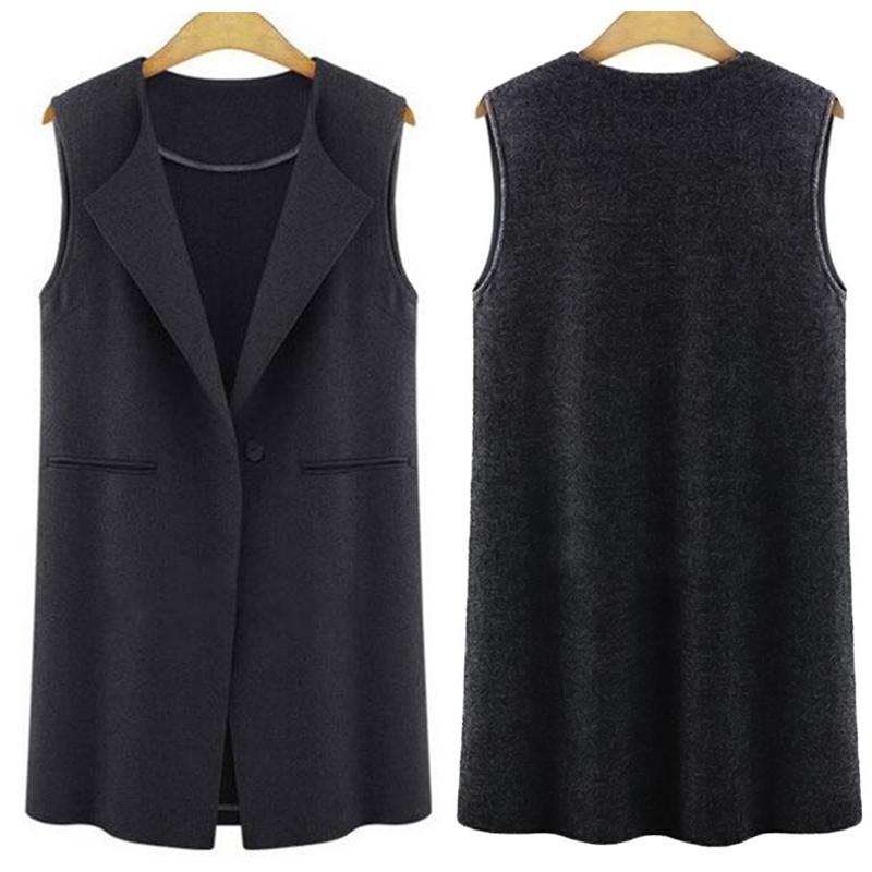 Women Casual Long Sleeveless Duster Suit Jacket Cardigan ...
