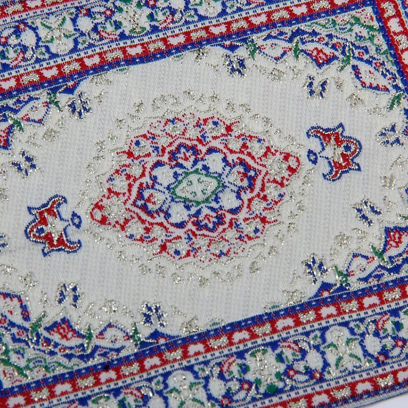 Multi Colored Dollhouse Carpet Miniature Embroidered