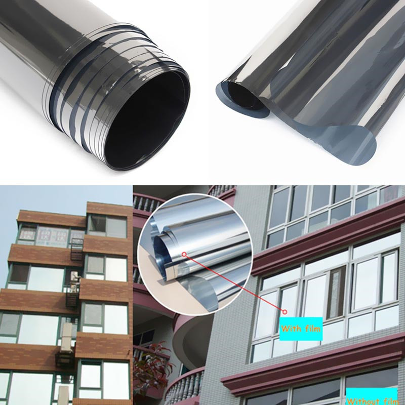 Purchase mirror silver 15 solar reflective window film for 1 way window tint
