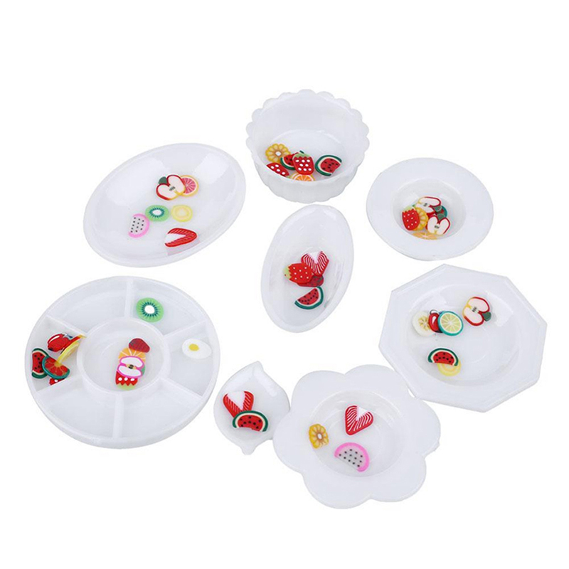 Toy Food And Dishes : Pcs dollhouse miniature tableware plastic plate dishes