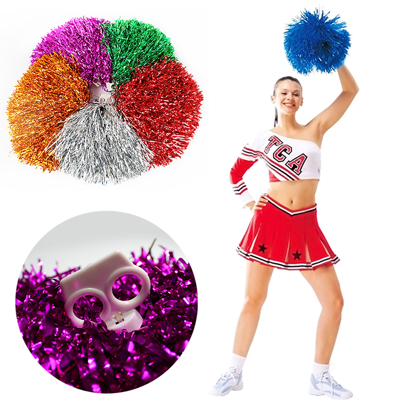 1pcs handheld pom poms cheerleader cheerleading cheer pom dance accessory hot. Black Bedroom Furniture Sets. Home Design Ideas