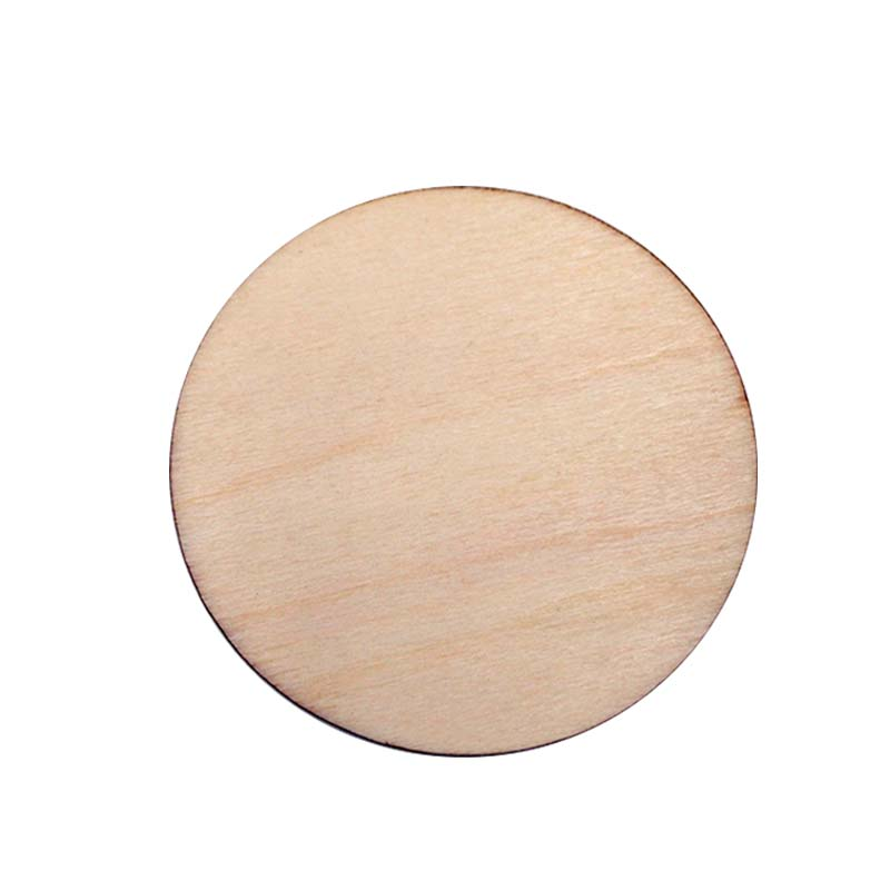 50pcs unfinished wooden round discs embellishments diy for Wood circles for crafts