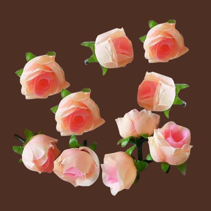 50pcs artificial silk rose peony flower heads bulk craft for Flower heads for crafts