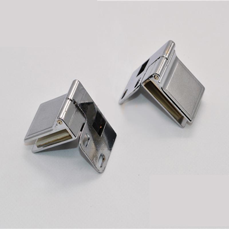 1 Pair Glass Door Display Cabinet Metal Hinge Zinc Alloy Furniture Hinges Set