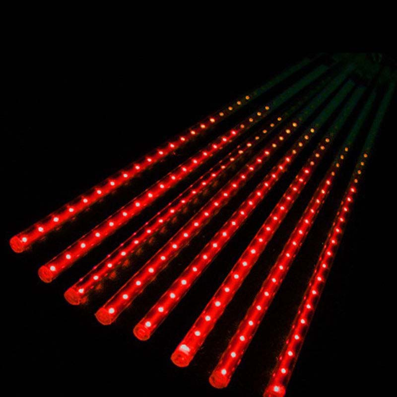 30cm 50cm led lights meteor shower rain 8tube xmas tree