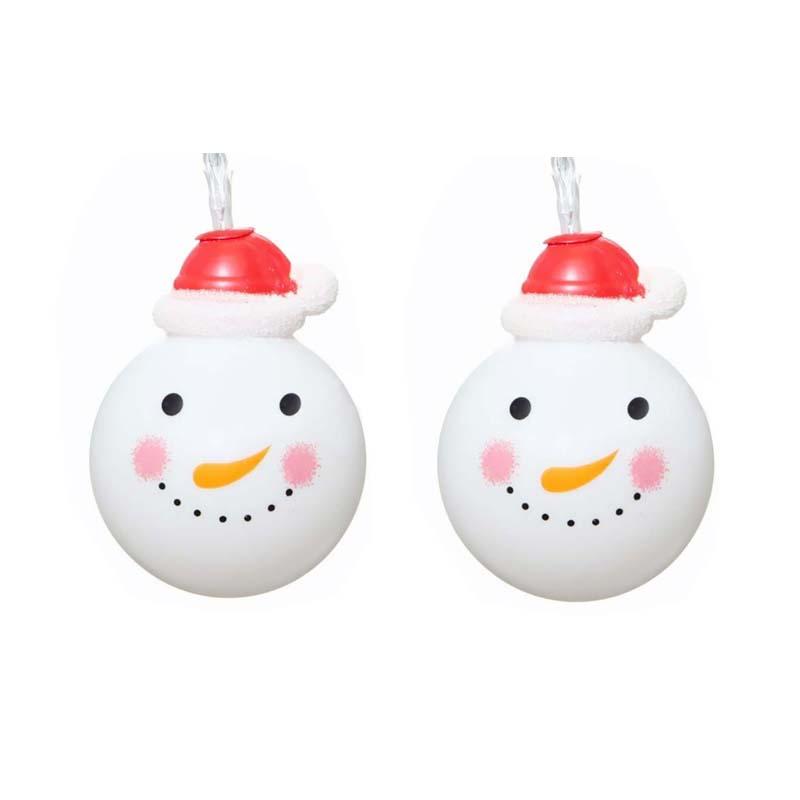 10 LED Snowman String Fairy Light Lamp Christmas Tree Xmas Party Wedding Decor eBay