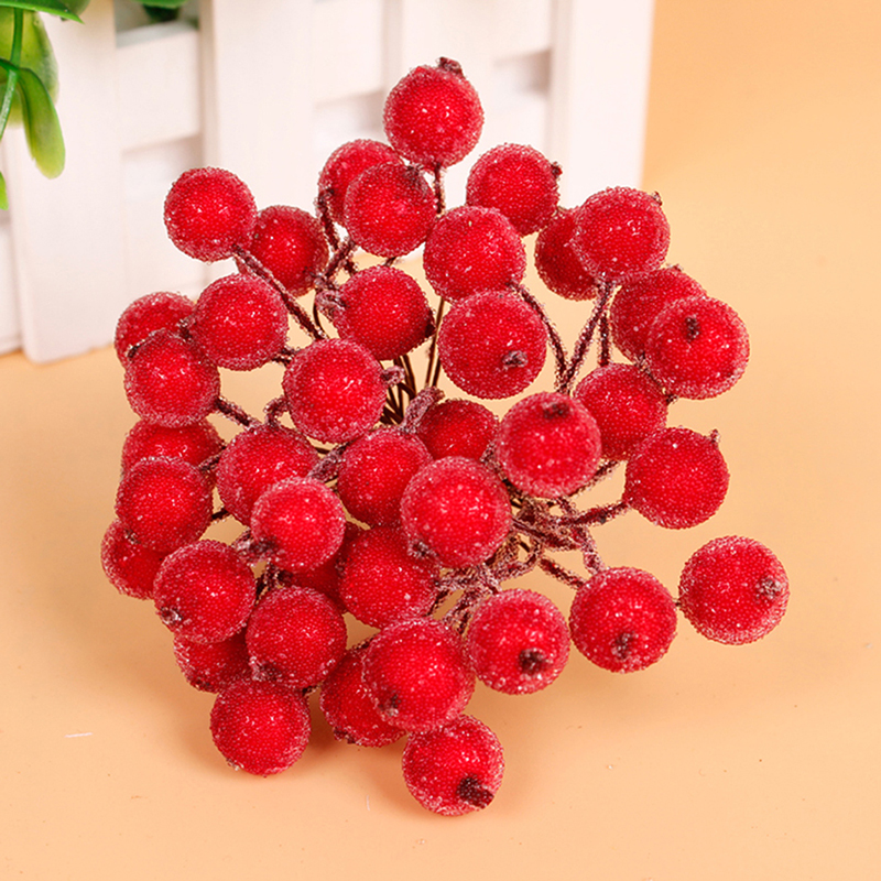 Christmas Tree Flower Power : Mini christmas frosted fruit berry holly artificial