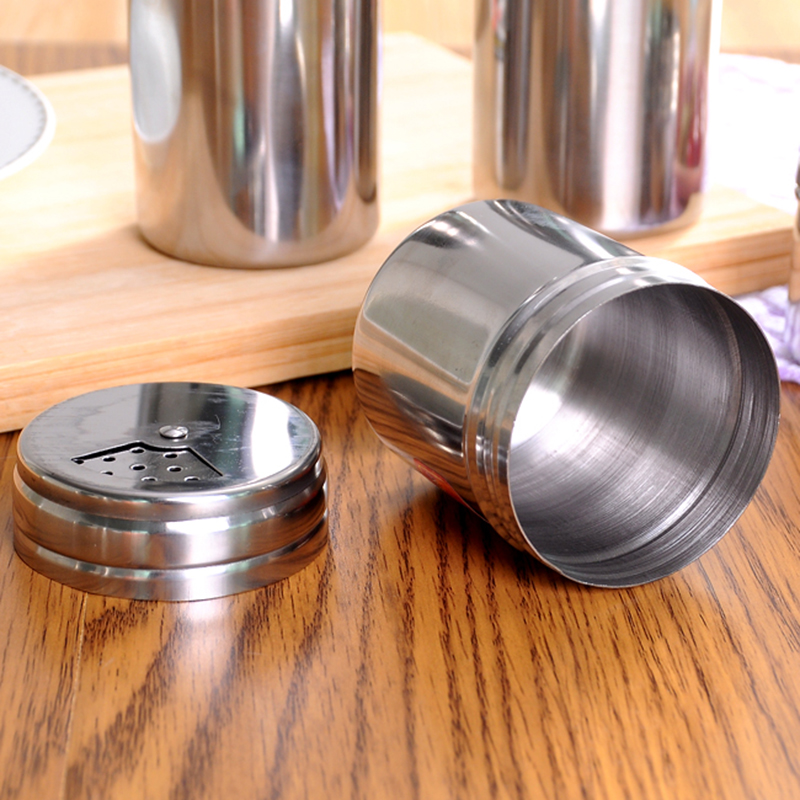 Stainless Steel Spice Suger Salt Pepper Shaker Jar