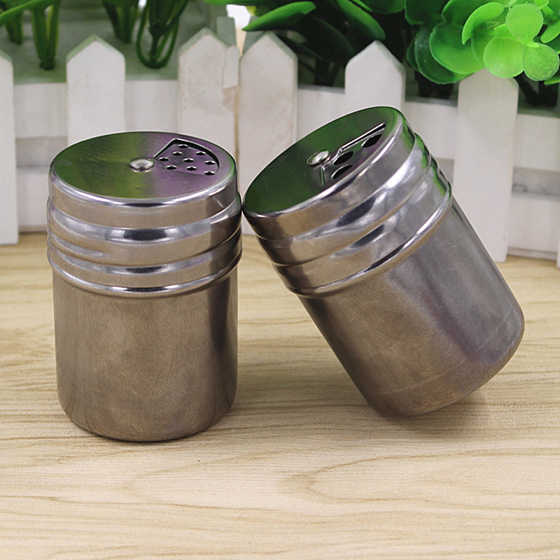 Stainless steel spice suger salt pepper shaker jar seasoning toothpick holder ebay - Toothpick shaker ...