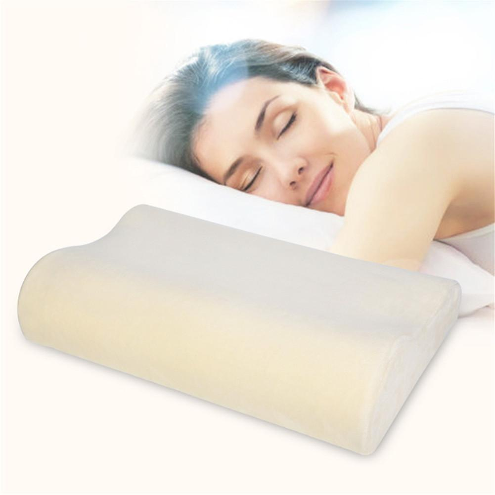 Contour orthopedic sleeping memory foam pillows firm head for Comfort pillows for sleep