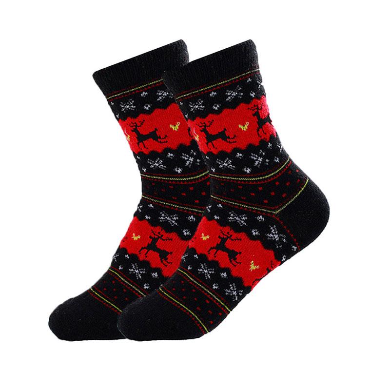 hommes femmes mignonne chaussettes de no l hiver chaud la laine chaussettes ebay. Black Bedroom Furniture Sets. Home Design Ideas
