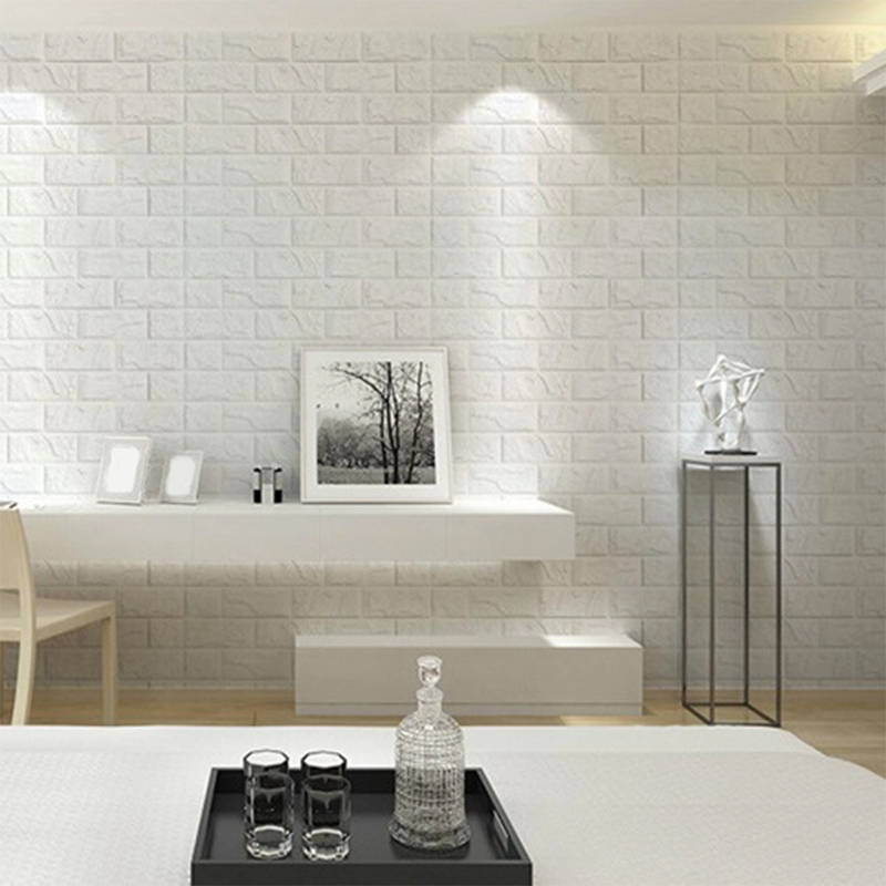 3D Brick Waterproof Wall Sticker Foam Self-adhesive Panel