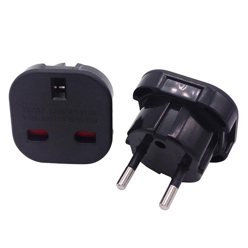 reise adapter stecker stromadapter uk de schuko england auf deutschland 3 2 pins ebay. Black Bedroom Furniture Sets. Home Design Ideas