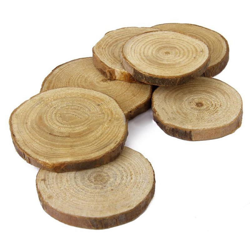 Pcs set wood log slices discs for crafts wedding