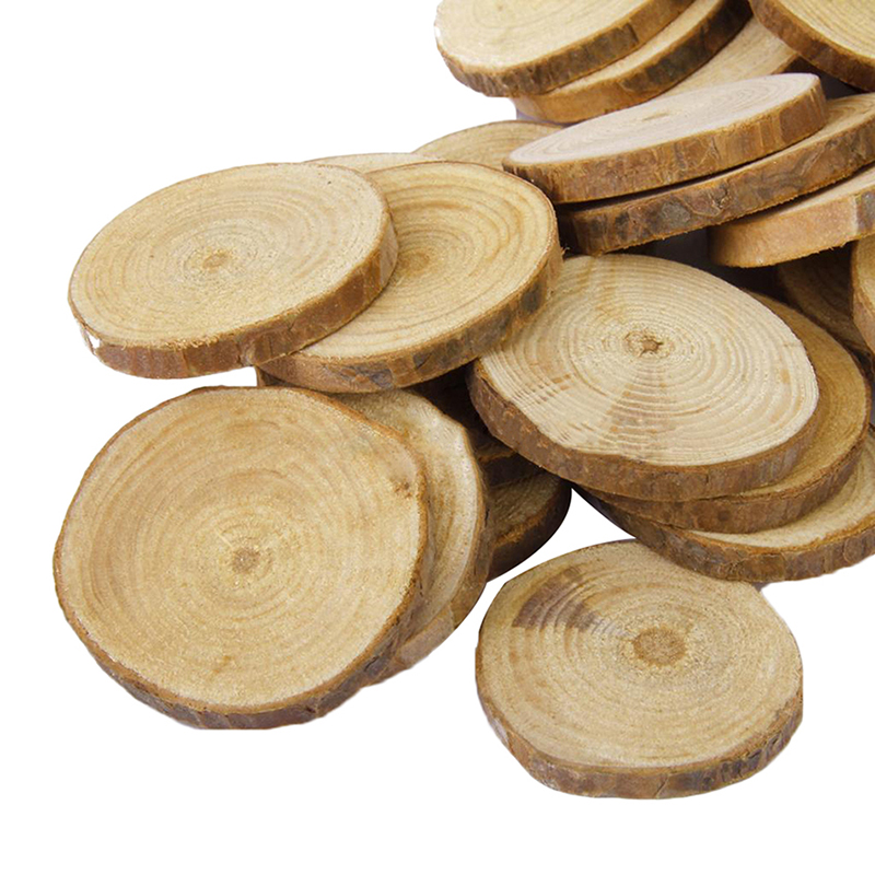 Crafts For Weddings Rustic: 25 Pcs Round Natural Rustic Wooden Discs With Bark