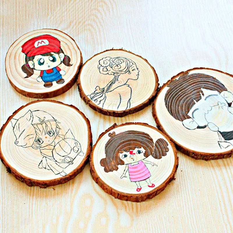 25pcs Wood Log Slices Discs For DIY Crafts Wedding Hobbies