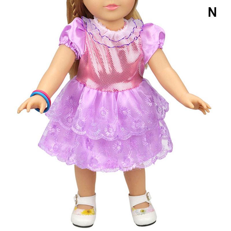 16 Colors Cute Floral Dress Doll Clothes Costume For ...
