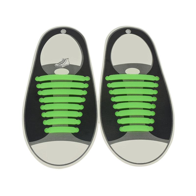 16x set lazy no tie shoelaces silicone shoelaces elastic