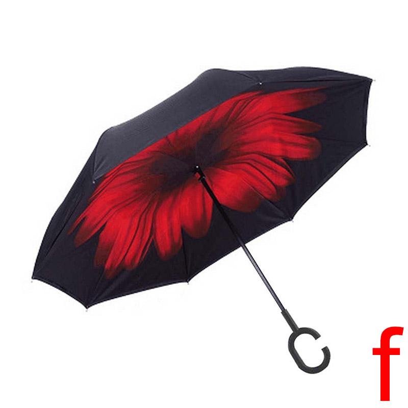 parapluie pliant automatique imprim invers double anti soleil uv vent parasol ebay. Black Bedroom Furniture Sets. Home Design Ideas