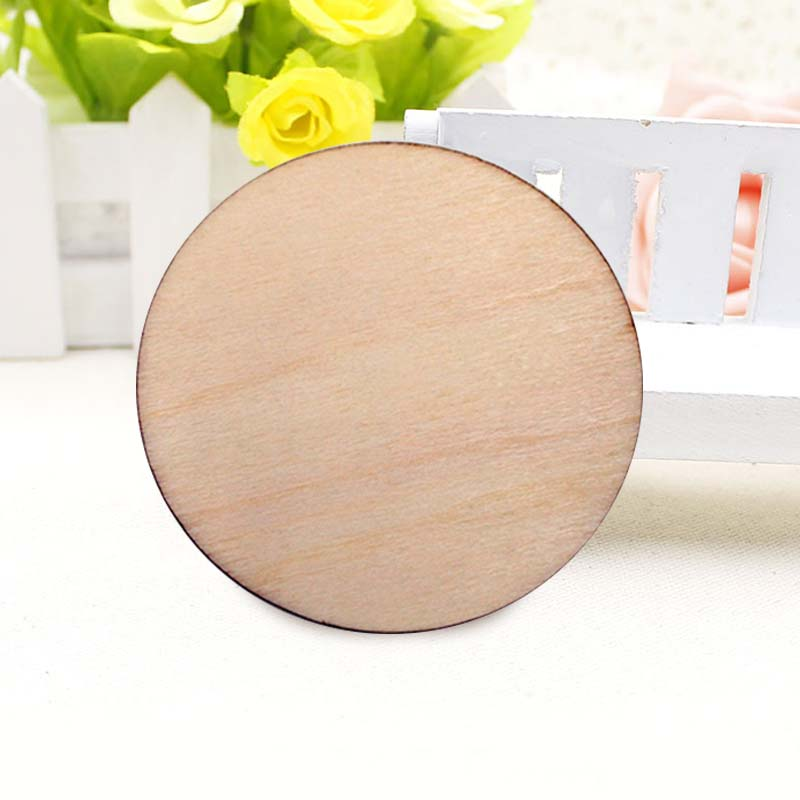 Rustic natural round wood pine tree slice disc wedding
