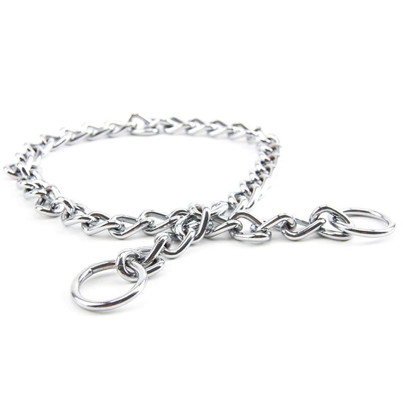 4 Sizes Choke Chain Collar Dog Pet Puppy Training Choker