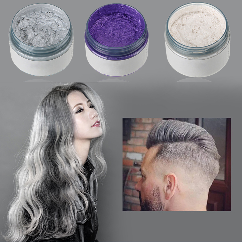 New Unisex DIY Hair Color Wax Mud Dye Coloring Cream Temporary Modeling 4 Col