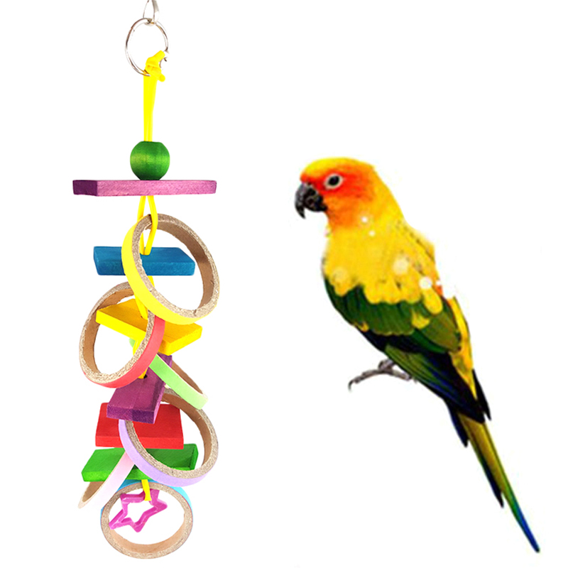 Parrot Pet Chew Swing Bird Rope Cage Hanging Parrot Toy ...
