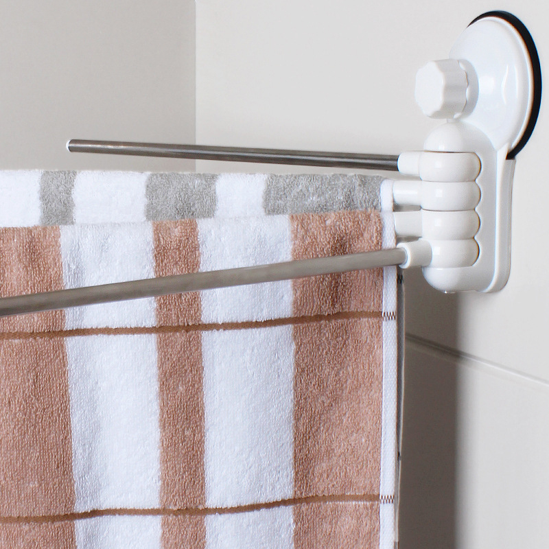 Bathroom 4 Swing Arm Stainless Steel Towel Bar Towels Rack