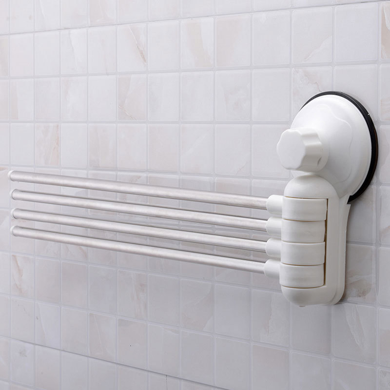 Bathroom 4 Swing Arm Stainless Steel Towel Bar Towels Rack Holder Wall Hanger Ebay