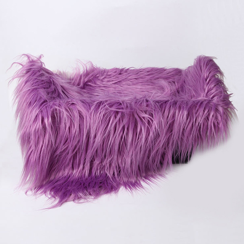 Newborn Baby Kids Soft Brown Faux Fur Rug Mat Blanket
