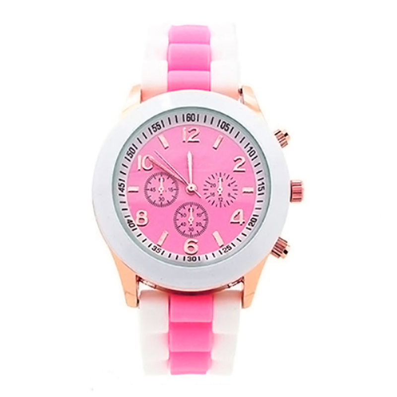 fashion geneva jelly gel silicone watches
