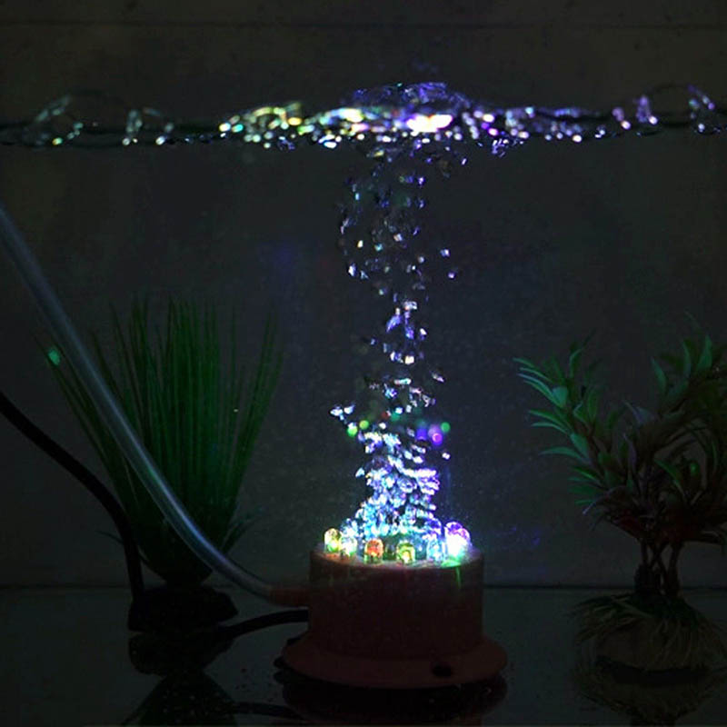 Underwater led lighting bubble effect volcano aquarium for Fish tank lighting