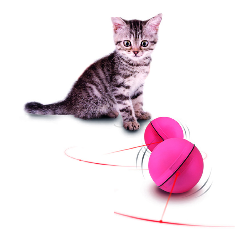 Pet Cat Dog Led Laser Ball Interactive Toy Automatic Red