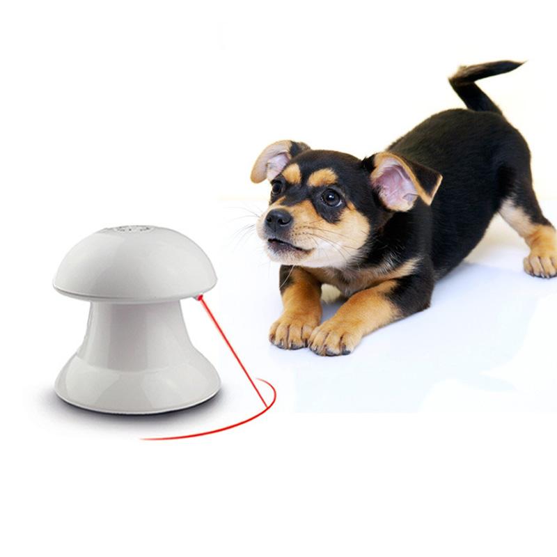 Automatic Rotating Cat Dart Laser Pointer Light Dog Pet